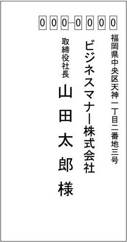 封筒の宛名(表)